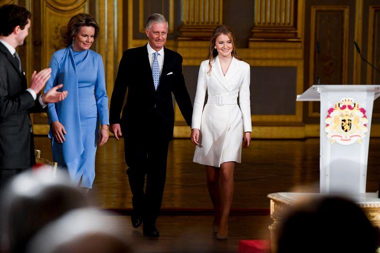 Queen Mathilde of Belgium, King Philippe - Filip of Belgium and Crown Princess Elisabeth