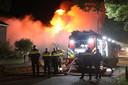 Felle uitslaande brand in winkelpand Oss
