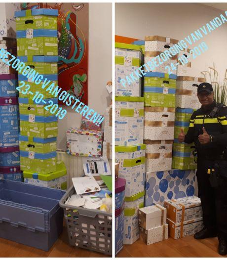 Postbode heeft het druk met kaartjesactie Zwolse politie voor zieke Eva