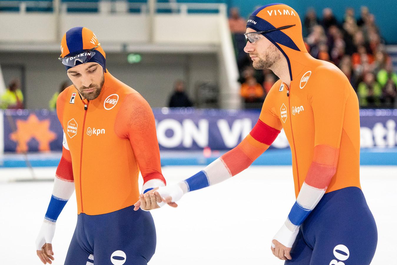 Kjeld Nuis en Thomas Krol (rechts).