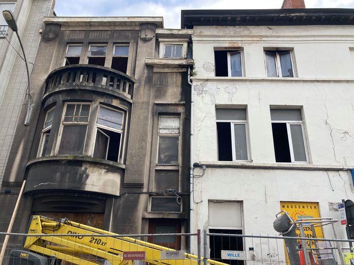 De woning aan de Oude Schaapmarkt is onbewoonbaar verklaard.