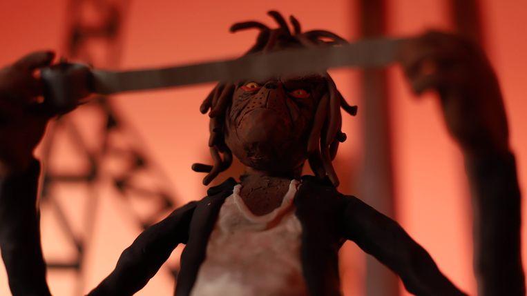 Beeld uit de videoclip The Grinch.  Beeld William Child