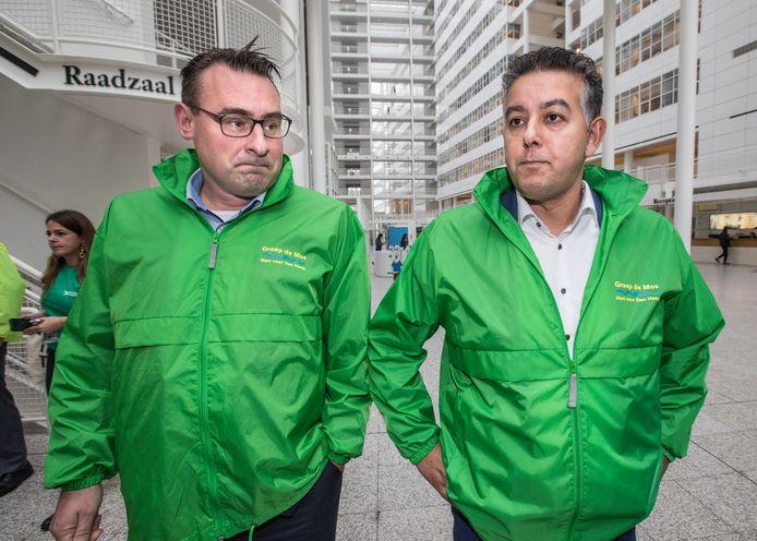 Wethouders Richard de Mos en Rachid Guernaoui.