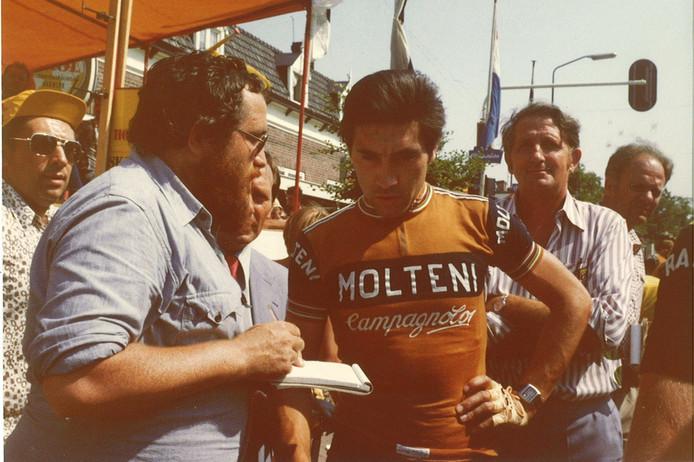 De befaamde Belgische renner Eddy Merckx stond aan de start van het Wielergala Ulvenhout.