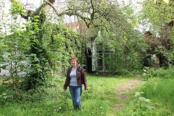 Els Snick in de tuin van de Visscherie.