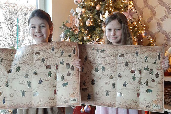 Zusjes  Amber en Merel  hebben een volle Jan Praet-kaart bijeen gespaard.