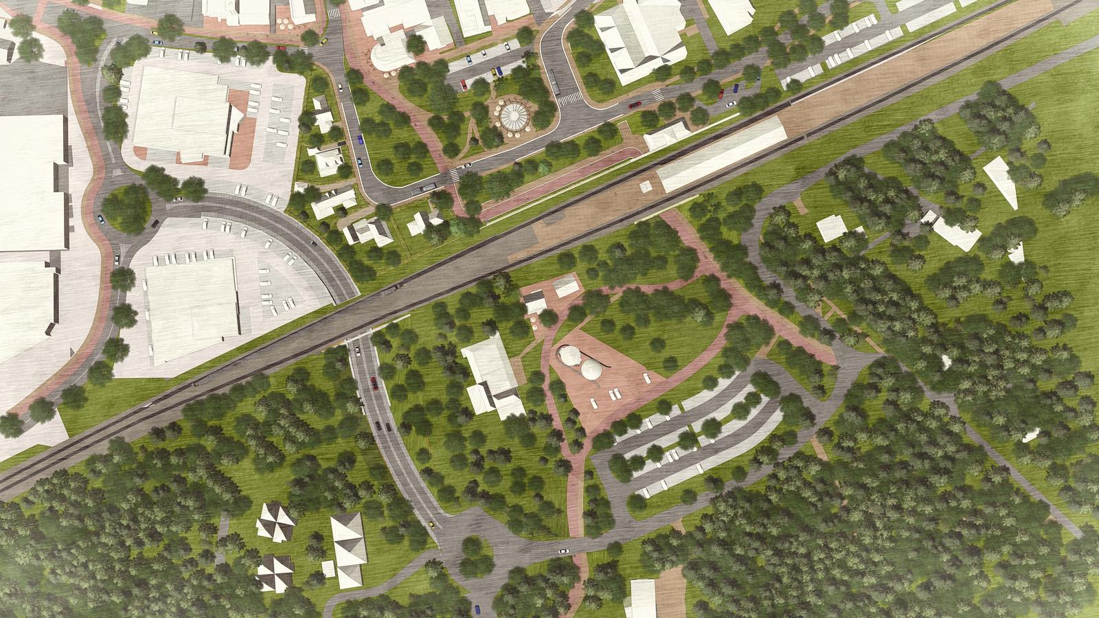 Zou moet het nieuwe stationsgebied van Nunspeet er ongeveer uit komen te zien. Al is het plan nog niet in beton gegoten.