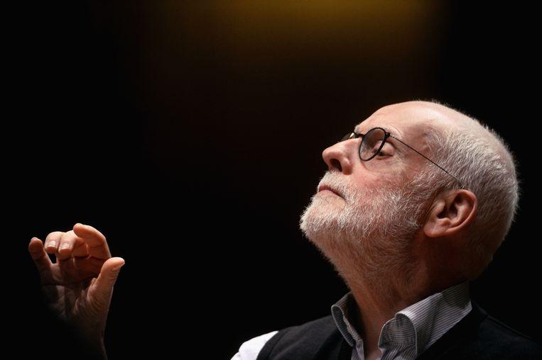 Ton Koopman bij een eerder concert, in Bologna in 2018. Beeld Redferns