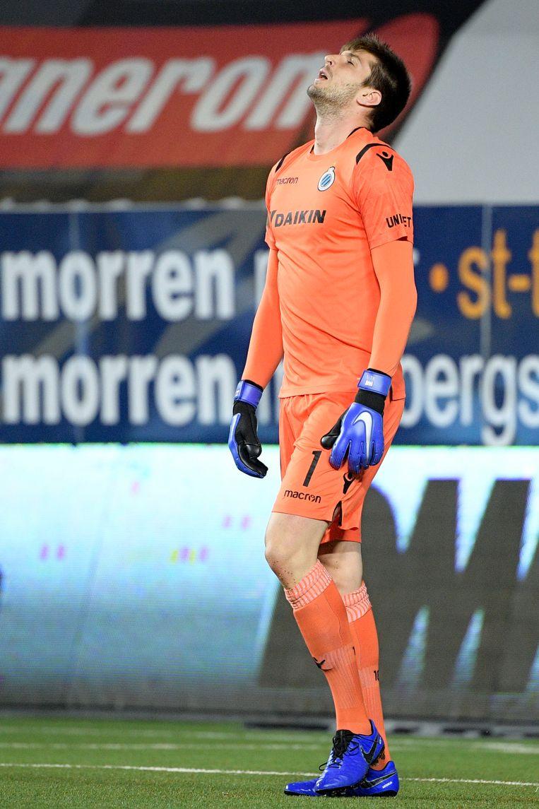 Club-doelman Letica baalt na het eerste doelpunt van STVV.