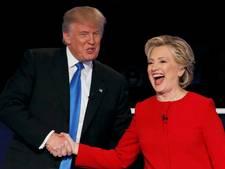 Zo oefende Clinton op het ontwijken van een omhelzing van Trump