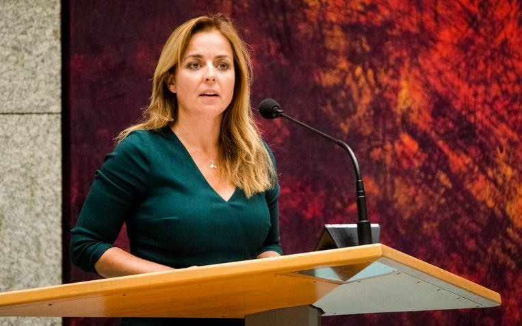 Marianne Thieme (PvdD) tijdens de Algemene Politieke Beschouwingen.  Beeld ANP