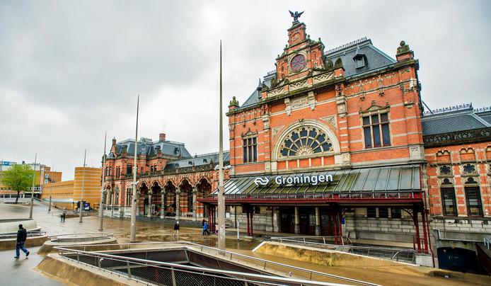 Exterieur van Centraal Station Groningen.