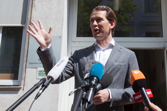Sebastian Kurz, après son vote, dimanche, à Vienne