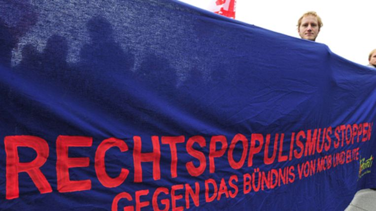 Demonstratie tegen rechts populisme in Duitsland. (AFP) Beeld