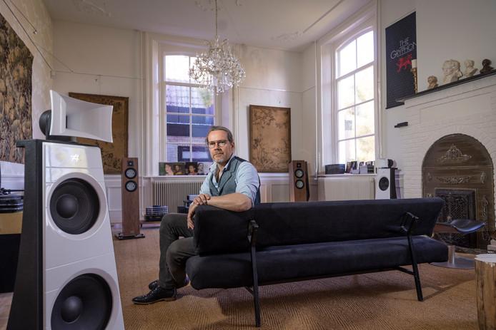 Het liefst verkoopt Mark van Braam van Audio21 platenspelers. Het verbaast hem niets dat de verkoop van lp's in de lift zit. ,,Dat geluid is puur.''