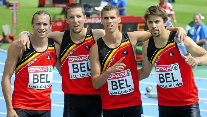 Cédric Van Branteghem, Antoine Gillet, Kevin Borlée et Niels Duerinck ont remporté la 2e série en 3:03.49, signant le meilleur chrono des séries.