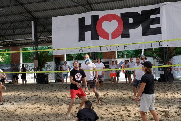 Op de Hope Benefiet was ook een volleybaltornooi.