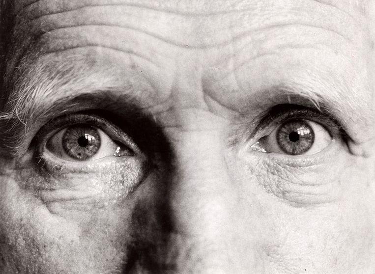 Een close-up van de ogen van de paragnost Gerard Croiset. Beeld Hollandse Hoogte / Spaarnestad Photo