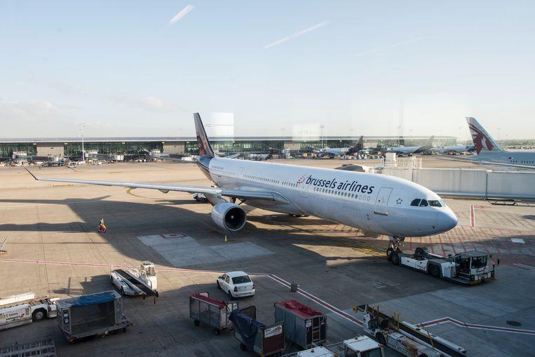 Een Airbus A330-200 van Brussels Airlines (archiefbeeld).
