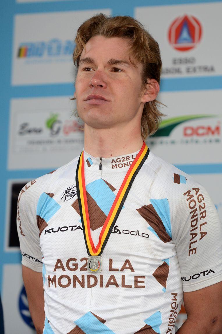 Goddaert pronkt met zilver op het BK in 2012, zijn beste resultaat.