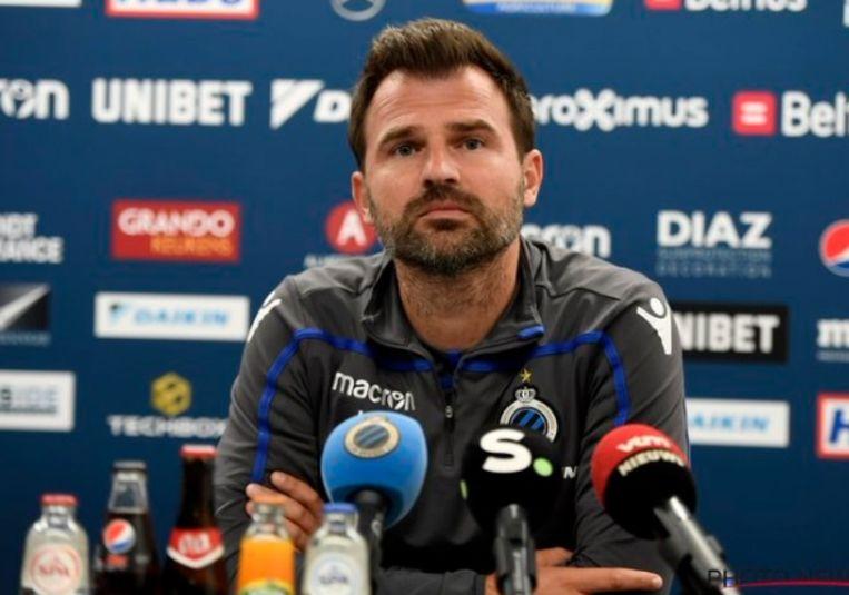 Ivan Leko op de persconferentie voor het treffen met Standard.