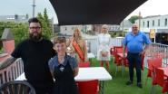 Michel Van den Brande en Miss België mogen eerste terrastoren inhuldigen bij frituur 't Patatje