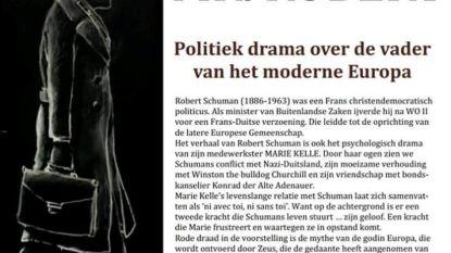 Theatergezelschap Wuivend Riet brengt voorstelling over Robert Schuman