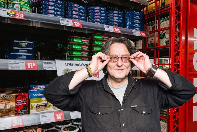 Kees Thies voelde zich een blinde vink in de supermarkt.