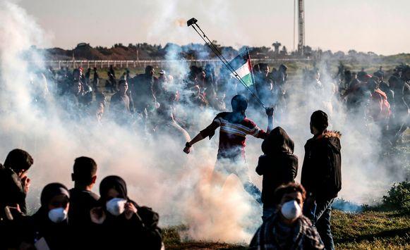 Schermutselingen langs de grens tussen de Gazastrook en Israël