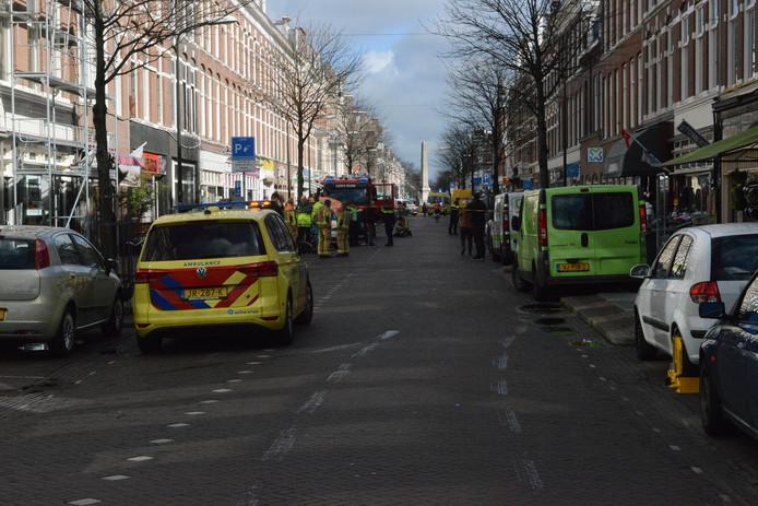 In de Weimarstraat is iemand overleden in een woning waar koolmonoxide was gemeten.
