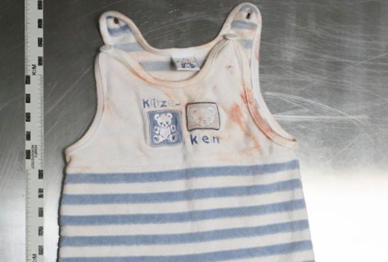 Dit is het rompertje dat de eerste baby droeg.