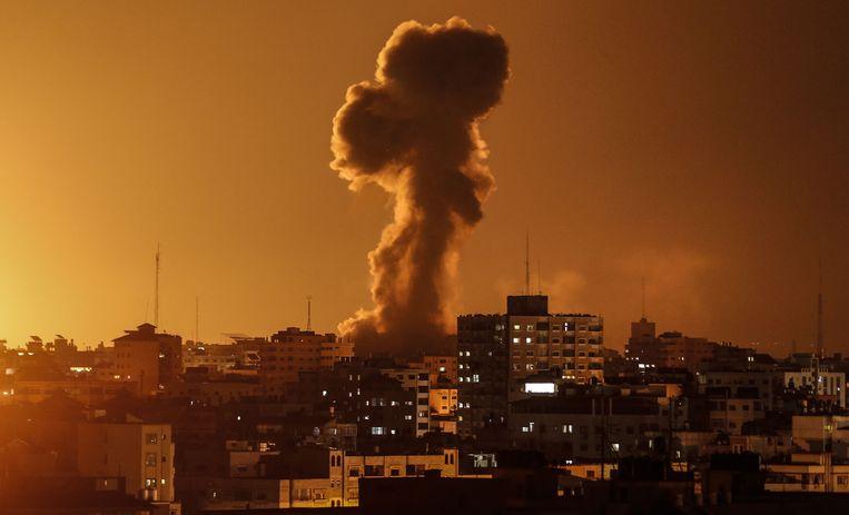 Een Israëlische luchtaanval op Gaza in november 2018.