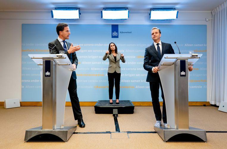 Premier Mark Rutte en Minister Hugo de Jonge. Beeld null
