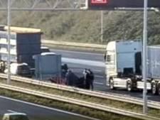 Grote file op A15 door ongeluk, bijna uur vertraging