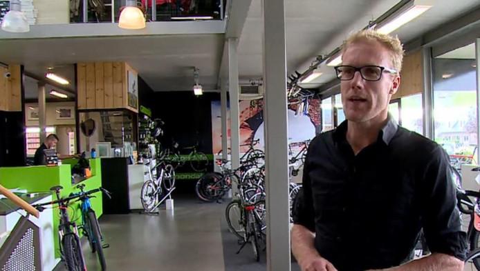De gedupeerde ondernemer en topfietser Marthijs Wegdam.