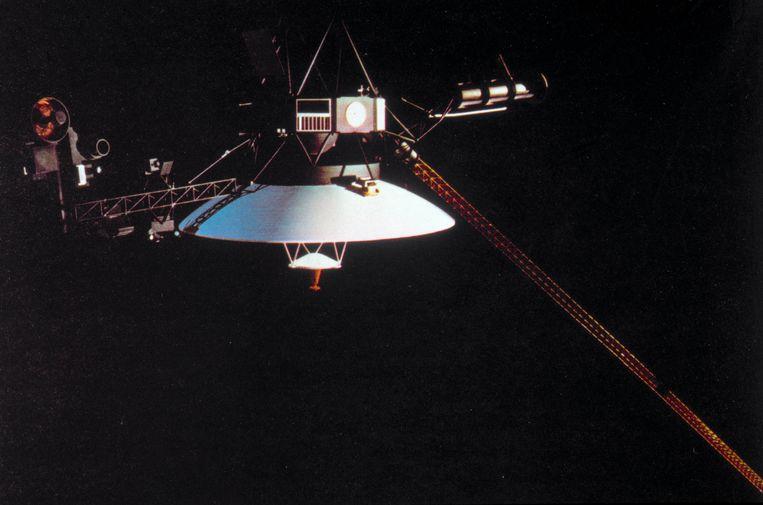 De Voyager 1, gelanceerd op 5 september 1977, was het eerste door mensen gebouwde voorwerp dat het zonnestelsel verliet. Beeld Getty
