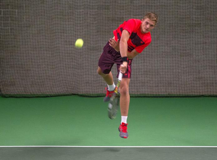 Tennistalent Bart Stevens uit Waalwijk