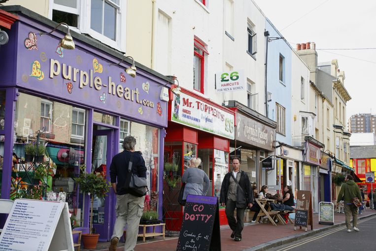 Gardner street in North Laine, Brighton Beeld Yadid Levy