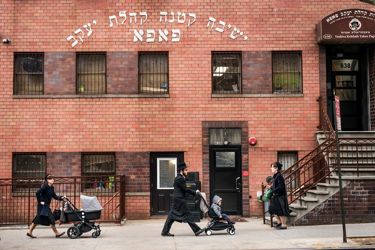 De Yeshiva Kehilath Yakov-school in South Williamsburg (Brooklyn, New York). Beeld Getty