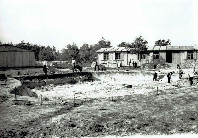 Kamp Leppink, het arbeidskamp van de Nederlandsche Arbeidsdienst aan de Diepenheimseweg in Lochuizen.