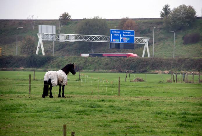 Het gebied tussen bebouwde kom van Bavel en de A27. Hier wil de gemeente Breda het voorkeursrecht vestigen, zodat er een nieuwe woonwijk kan worden gebouwd.