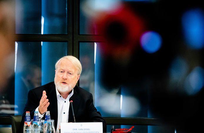 RIVM-directeur Jaap van Dissel vanochtend in een sessie met de Tweede Kamer.