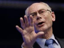 """Van Rompuy défend """"un budget dicté par l'urgence"""""""