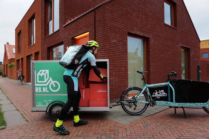 wehkamp start bezorging op de fiets