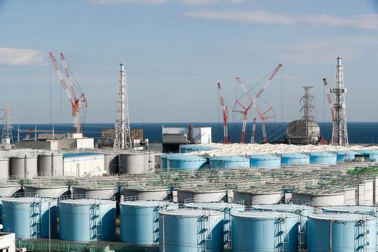 Archiefbeeld. Het besmet water wordt opgeslagen in bijna duizend tanks.