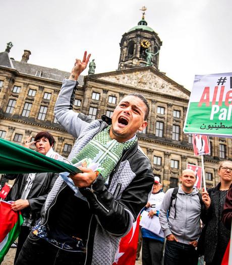 Paar honderd mensen op de been voor Palestijnen
