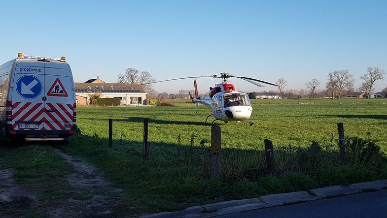 Ook de mughelikopter vloog ter plaatse.