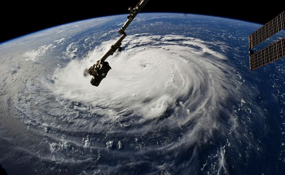 Orkaan Florence gezien vanuit ruimtestation ISS in september vorig jaar.