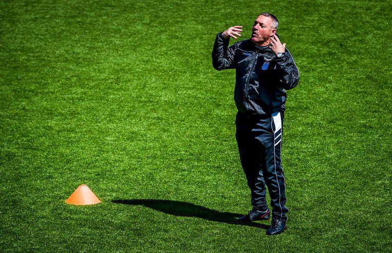 Ron Jans als trainer van Zwolle. Beeld ANP