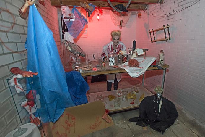 Scene uit het horrorhuis van Mama's met een missie, afgelopen vrijdag 13 oktober.